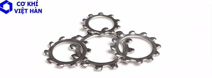 Vòng đệm / Long đen vành răng cưa vành ngoài inox 304, 316 DIN 6797 A