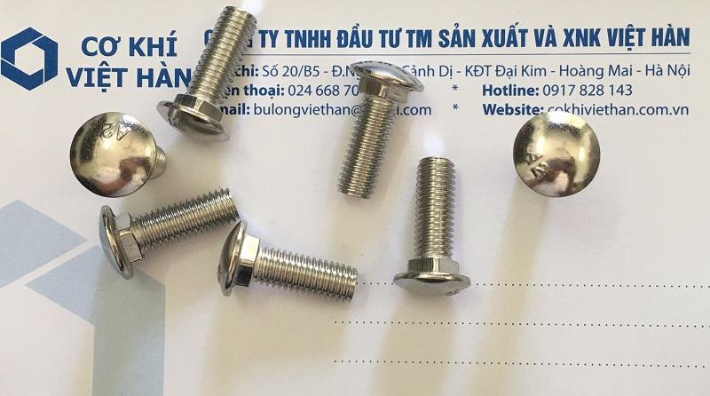 Bulong đầu nấm cổ vuông inox 304 / 316 / 201